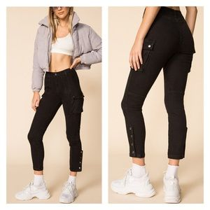 SUPERDOWN ROXY High Waisted Pant in Black